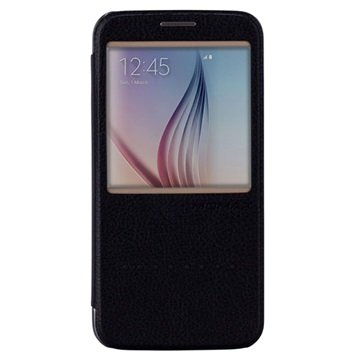 Samsung Galaxy S6 Momax Haute Couture Flip Case Zwart