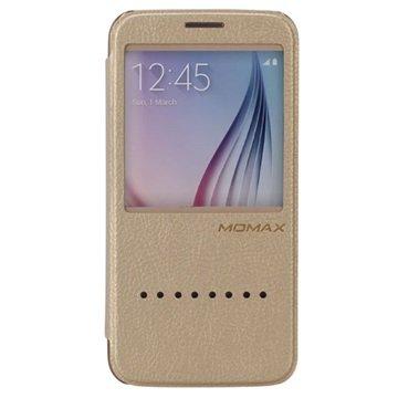 Samsung Galaxy S6 Momax Haute Couture Flip Case Goud
