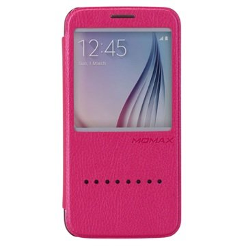 Samsung Galaxy S6 Momax Haute Couture Flip Case Hot Pink