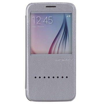 Samsung Galaxy S6 Momax Haute Couture Flip Case Zilver