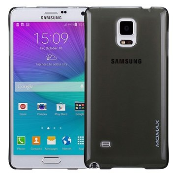 Samsung Galaxy Note 4 Momax Ultra Dun Serie Harde Cover - Clear Breeze Zwart