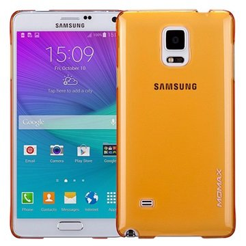 Samsung Galaxy Note 4 Momax Ultra Dun Serie Harde Cover - Clear Breeze Geel