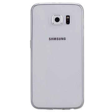 Samsung Galaxy S6 Momax Ultra Dun Serie TPU Case Doorzichtig / Wit
