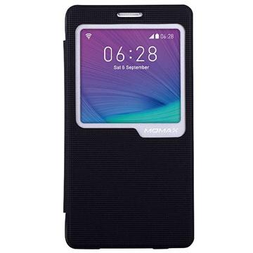 Samsung Galaxy Note 4 Momax View Flip Case Zwart