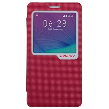 Samsung Galaxy Note 4 Momax View Flip Case Rood