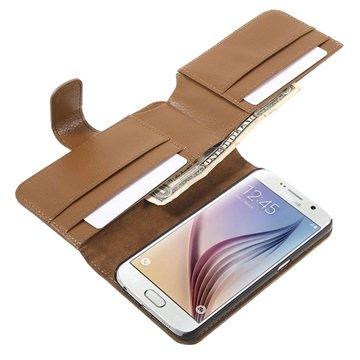 Samsung Galaxy S6 Multifunctional Wallet Hoesje Bruin