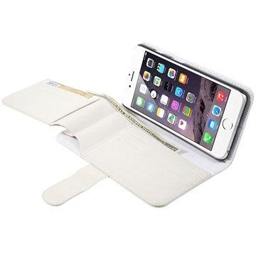 iPhone 6 Plus / 6S Plus Multifunctional Wallet Leren Hoesje Wit