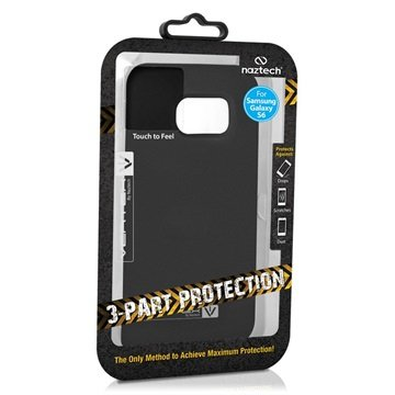 Samsung Galaxy S6 Naztech Vertex 3-Layer Cover Zwart / Zwart