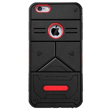 iPhone 6 Plus / 6S Plus Nillkin Defender III Series Hybrid Cover Zwart / Rood