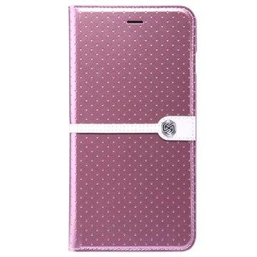iPhone 6 Plus / 6S Plus Nillkin Ice Series Flip Leren Case Roze