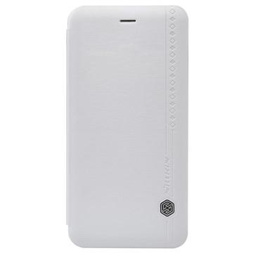 iPhone 6 Plus / 6S Plus Nillkin Rain Series Flip Leren Case Wit