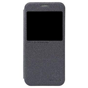 Samsung Galaxy S6 Nillkin Sparkle Smart View Flip Case Zwart