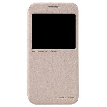 Samsung Galaxy S6 Nillkin Sparkle Smart View Flip Case Goud
