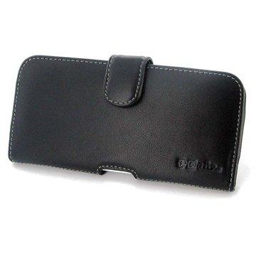 iPhone 6 Plus / 6S Plus PDair Horizontale Leren Case Zwart