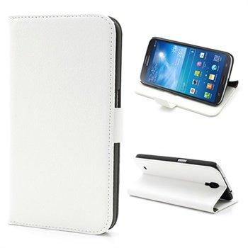 Samsung Galaxy Mega 6.3 I9200 Wallet Leren Hoesje Wit