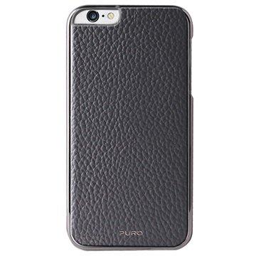 iPhone 6 Plus / 6S Plus Puro Business Leder Bekleed Hard Cover Grijs