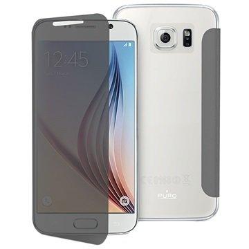 Samsung Galaxy S6 Puro Sense Flip Case Zwart