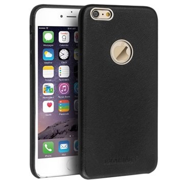 iPhone 6 Plus / 6S Plus Qialino Slim Leder Bekleed Hard Cover Zwart