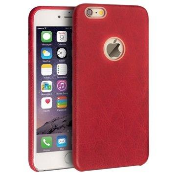 iPhone 6 Plus / 6S Plus Qialino Slim Leder Bekleed Hard Cover Rood