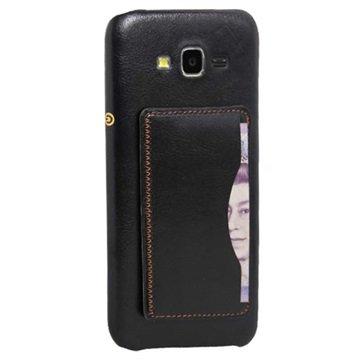 Samsung Galaxy J5 Retro Kickstand Hard Cover Zwart