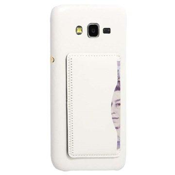Samsung Galaxy J5 Retro Kickstand Hard Cover Wit