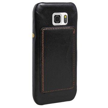 Samsung Galaxy S6 Active Retro Kickstand Hard Cover Zwart