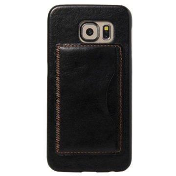 Samsung Galaxy S6 Retro Kickstand Hard Cover Zwart