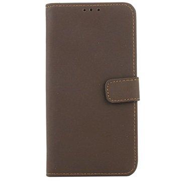 Samsung Galaxy S6 Retro Wallet Hoesje Coffee
