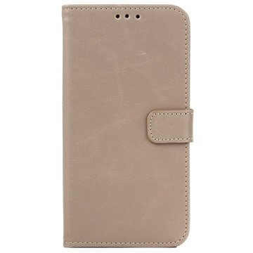Samsung Galaxy J5 Retro Wallet Hoesje Beige