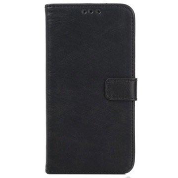 Samsung Galaxy J5 Retro Wallet Hoesje Zwart
