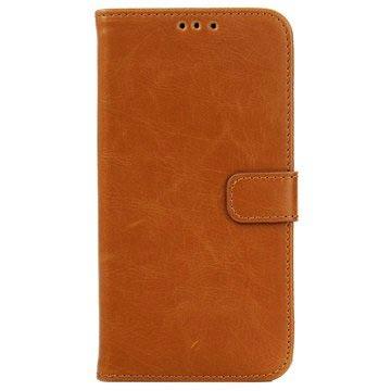 Samsung Galaxy J5 Retro Wallet Hoesje Bruin