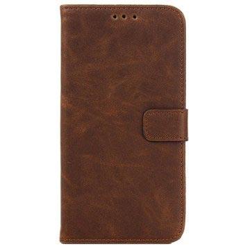 Samsung Galaxy J5 Retro Wallet Hoesje Coffee