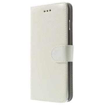 iPhone 6 Plus / 6S Plus Retro Wallet Leren Hoesje Wit