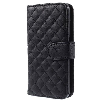 Samsung Galaxy S6 Rhombus Wallet Hoesje Zwart