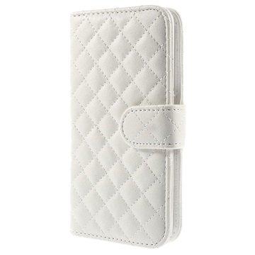 Samsung Galaxy S6 Rhombus Wallet Hoesje Wit
