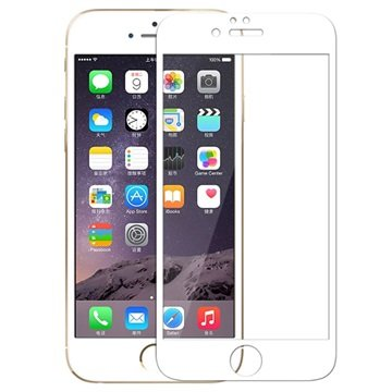 iPhone 6 / 6S Rock Tempered Glass Displayfolie Wit