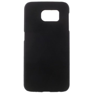 Samsung Galaxy S6 Gerubberiseerde Harde Cover Zwart