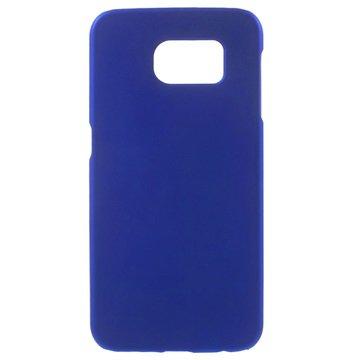 Samsung Galaxy S6 Gerubberiseerde Harde Cover Donkerblauw