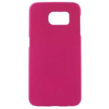 Samsung Galaxy S6 Gerubberiseerde Harde Cover Hot Pink