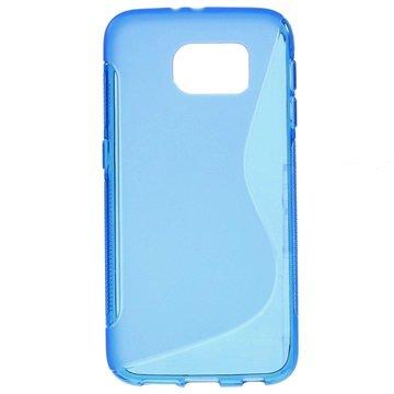 Samsung Galaxy S6 S-Curve TPU Case Blauw
