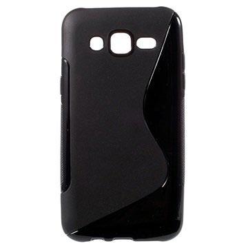 Samsung Galaxy J5 S-Curve TPU Case Zwart