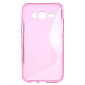Samsung Galaxy J5 S-Curve TPU Case Hot Pink