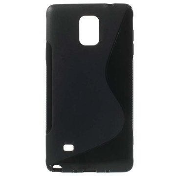 Samsung Galaxy Note 4 S-Curve TPU Case Zwart