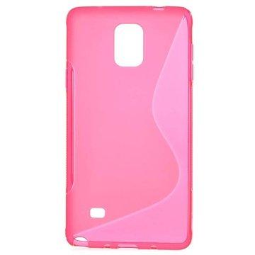 Samsung Galaxy Note 4 S-Curve TPU Case Hot Pink