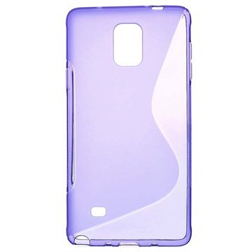 Samsung Galaxy Note 4 S-Curve TPU Case Paars