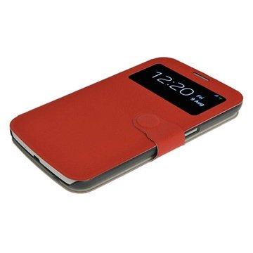 Samsung Galaxy Mega 6.3 i9200 iGadgitz Flip Leren Case Rood