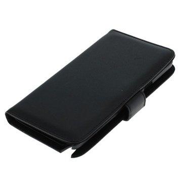 Samsung Galaxy Note 4 Bookstyle Flip Leren Case Zwart