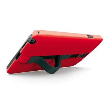 Samsung Galaxy Note 4 Ksix Worm Standing Hard Cover Rood