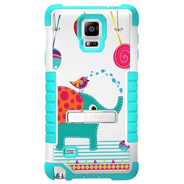 Samsung Galaxy Note 4 Beyond Cell Tri Shield Design Hybrid Cover Berryphant