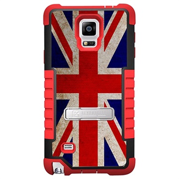 Samsung Galaxy Note 4 Beyond Cell Tri Shield Design Hybrid Cover British Flag